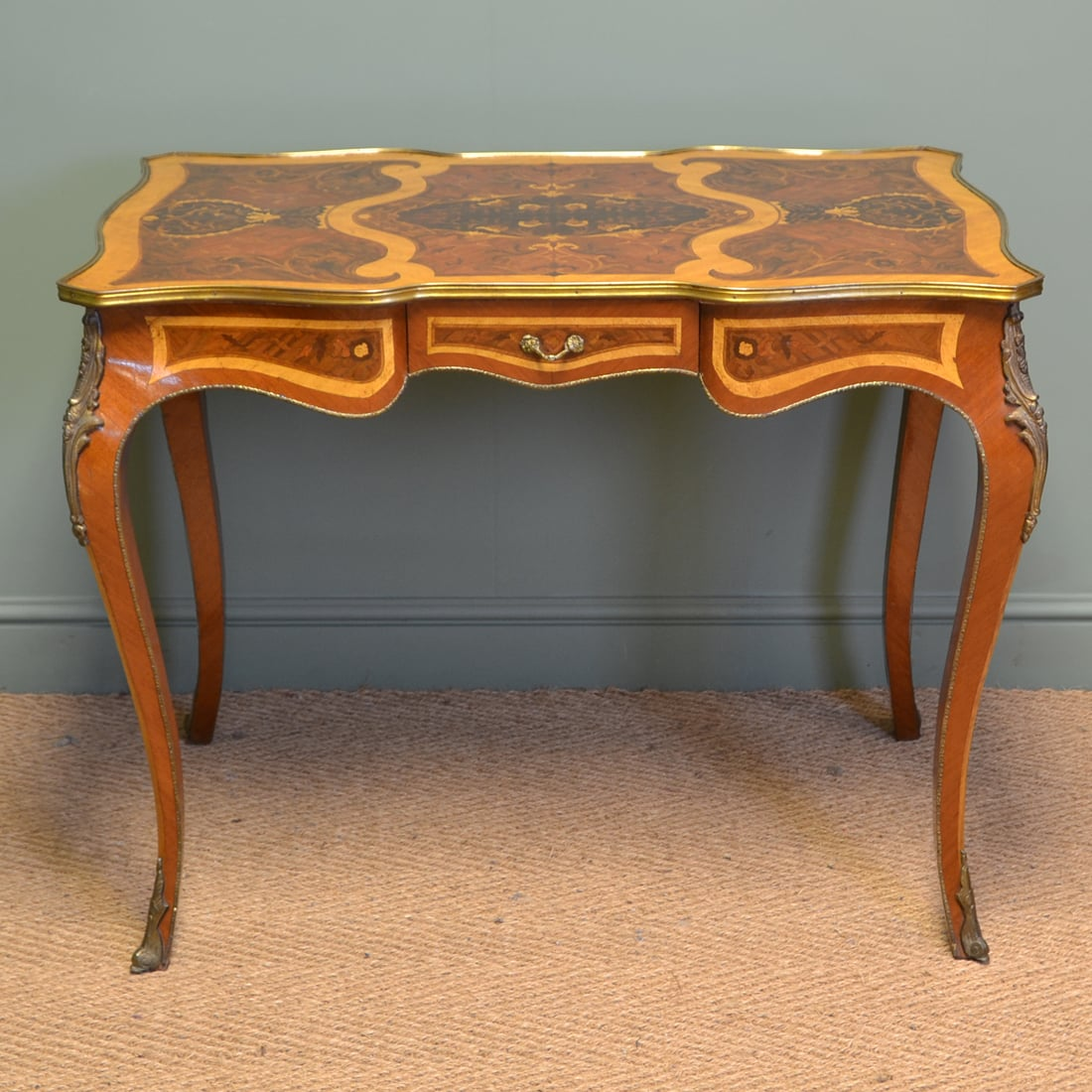 Marquetry Inlaid Antique Edwardian Table