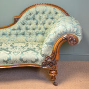 High Quality Large Victorian Walnut Antique Settee / Sofa