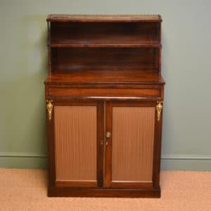 Fine Quality Regency Rosewood Antique Chiffonier