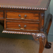 Large Victorian Antique Mahogany Partners Desk