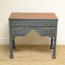 Quality Victorian Antique Painted Mahogany Low Boy / Side Table