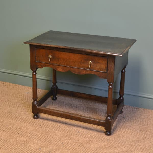 Period Oak Georgian Country Antique Side Table / Low Boy