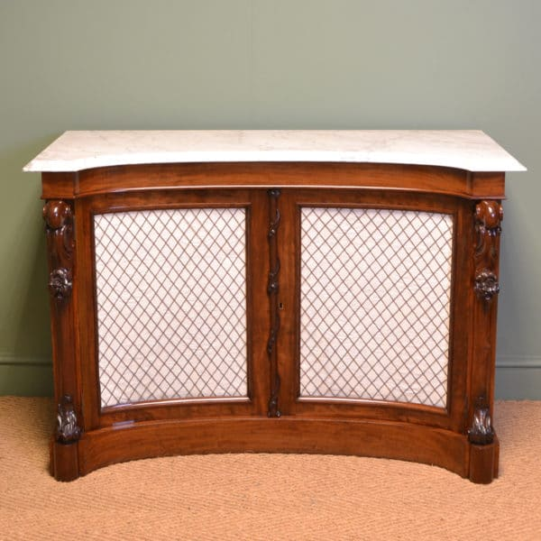 Magnificent Quality Concave Front Antique Victorian Mahogany Chiffonier / Sideboard