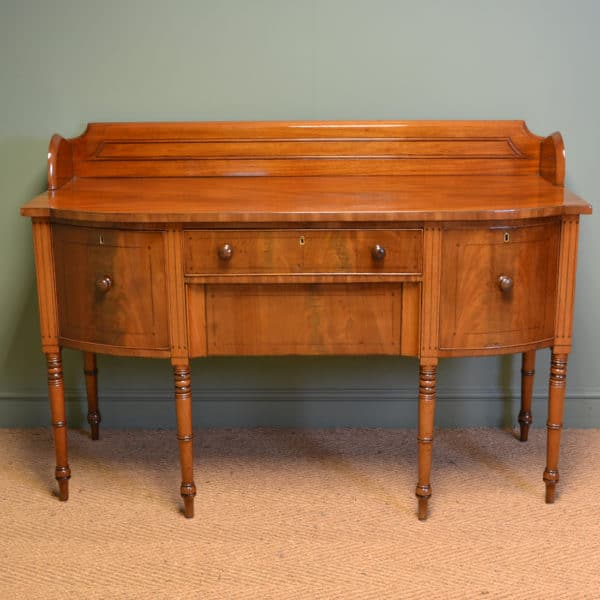 Fine Quality Mahogany Regency Bow Fronted Antique Sideboard