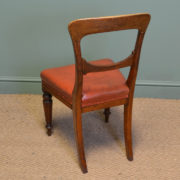 Country House Set of Eight Victorian Oak Balloon Back Antique Dining Chairs by James Winter & Sons.