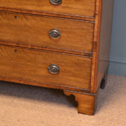 Country House Regency Tall Antique Mahogany Chest Of Drawers
