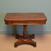Striking William IV Figured Mahogany Antique Card / Games Table