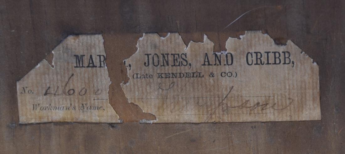 Magnificent Marsh, Jones & Cribb Figured Burr Walnut Victorian Antique Credenza