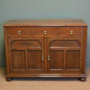 Unusual Shoolbred Figured Oak Antique Cupboard