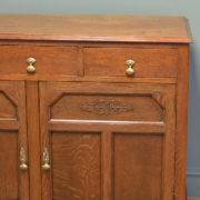 Unusual Shoolbred Figured Oak Antique Cupboard