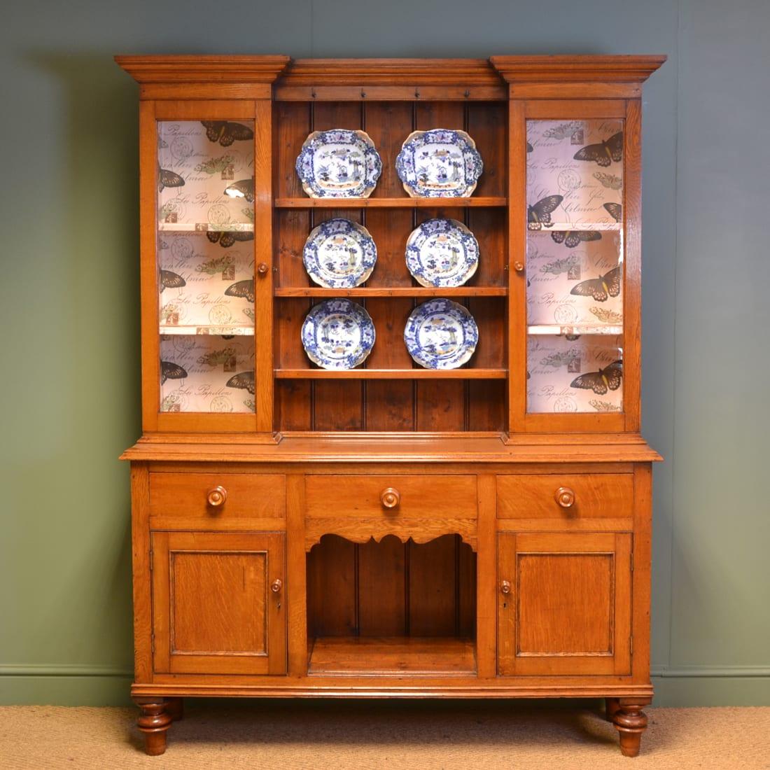 Victorian Welsh Oak Antique Dresser - Antiques World