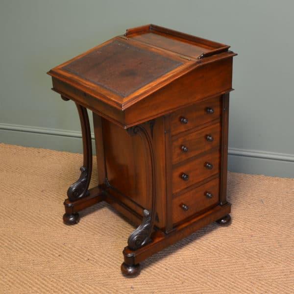 Fine Quality Victorian Mahogany Antique Davenport / Writing Desk