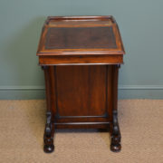 Fine Quality Victorian Mahogany Antique Davenport / Writing Desk