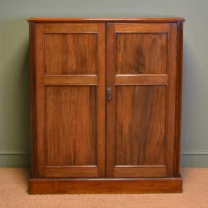 Beautifully Figured Victorian Walnut Antique Cupboard
