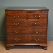 Stunning George III Ogee Antique Mahogany Chest Of Drawers