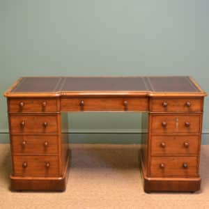 Fine Quality Victorian Mahogany Antique Pedestal Desk