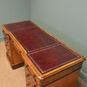 Fine Quality Victorian Mahogany Antique Pedestal Desk