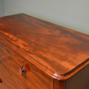 Superb Quality Victorian Figured Mahogany Antique Chest Of Drawers