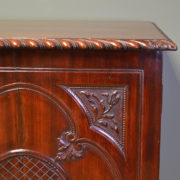 Spectacular Antique Victorian Decorative Carved Mahogany Cupboard