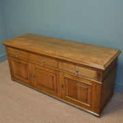 Unusual Edwardian Golden Oak Low Antique TV Cupboard