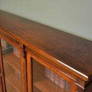 Spectacular Maple & Co Victorian Antique Walnut Three Door Bookcase