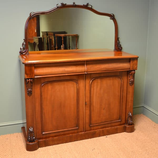 Stunning Victorian Figured Mahogany Antique Chiffonier / Cupboard