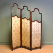 Elegant Victorian Mahogany Antique Folding Dressing Screen / Princess Victoria