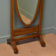 Elegant Edwardian Mahogany Antique Tilting Cheval Mirror