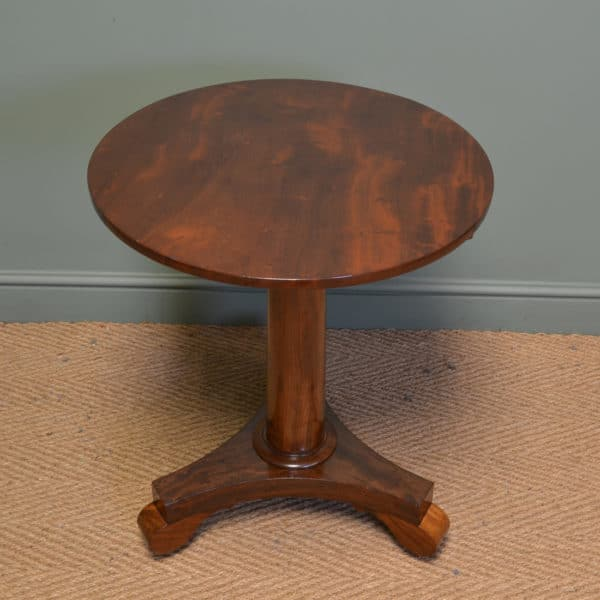 Striking William IV Figured Mahogany Antique Occasional / Lamp Table