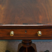 Fine Regency Figured Mahogany Antique Drop Leaf Dining Table