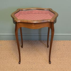 Elegant Edwardian Walnut Antique Bijouterie Table