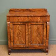 Small Figured Golden Mahogany Antique Victorian Chiffonier / Cupboard