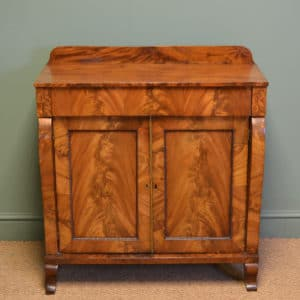 Small Figured Golden Mahogany Antique Victorian Chiffonier / Cupboard