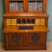 Quality Victorian Walnut Antique Secretaire Bookcase