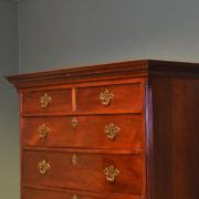 Spectacular Georgian Figured Mahogany Antique Chest on Chest