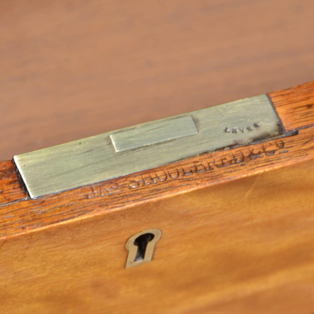 Satin Birch Antique Pedestal Desk Stamp