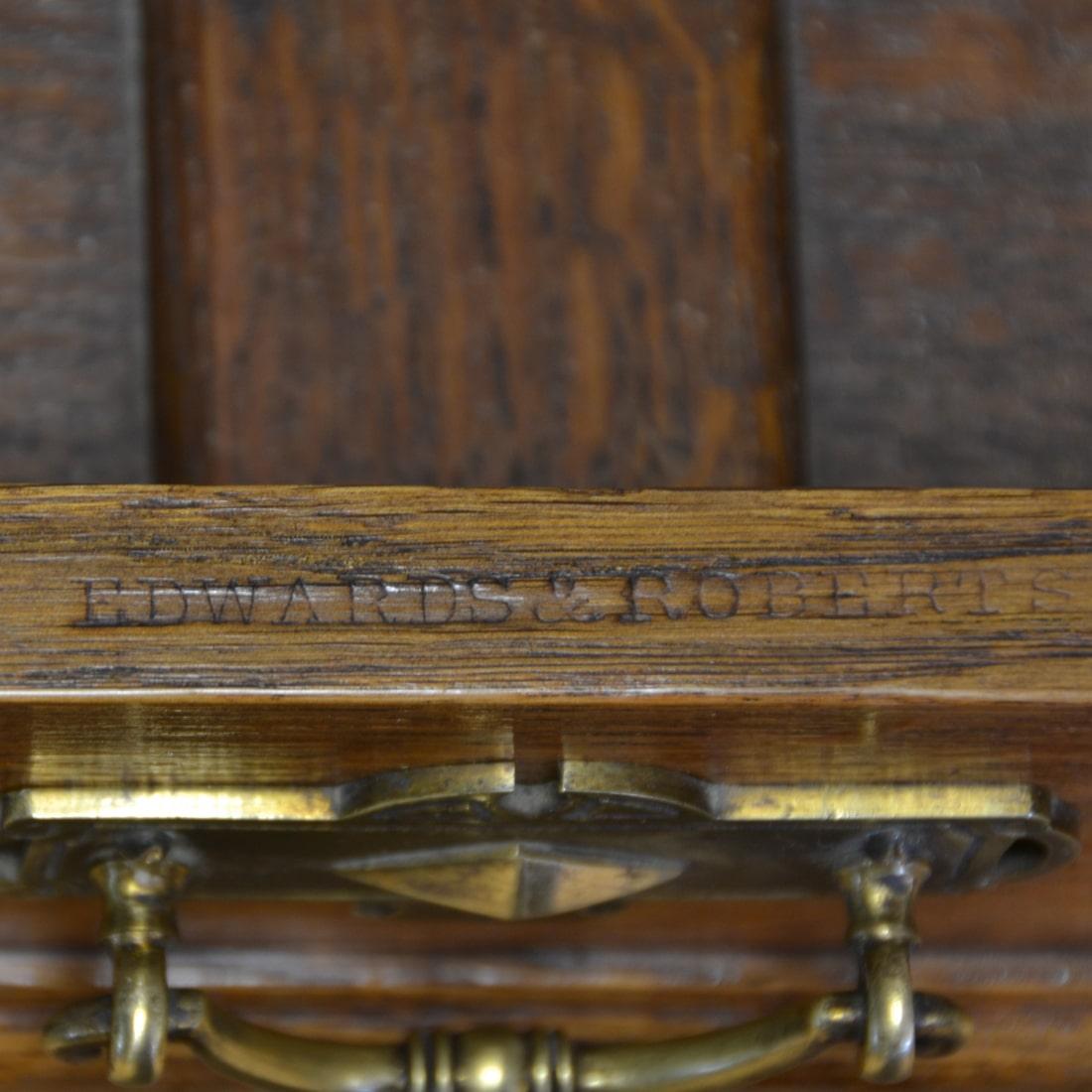 Spectacular Golden Oak Victorian Edwards & Roberts Antique Side Table
