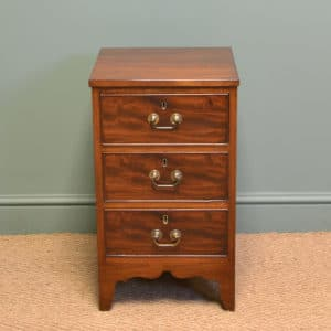Small Edwardian Figured Mahogany Antique Chest Of Drawers