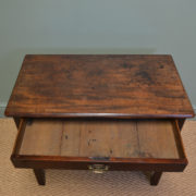 Small Country House Georgian Mahogany Antique Side / Lamp Table