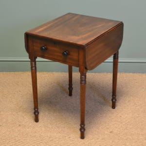 Beautiful Regency Figured Mahogany Small Antique Sofa Table