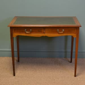 Elegant Edwardian Inlaid Mahogany Antique Writing Table