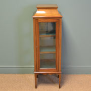 Spectacular Fine Edwardian Unusual Walnut Display Cabinet