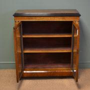 Superb Quality Victorian Figured Walnut Antique Pier Cabinet