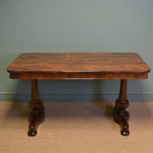 Large Spectacular Regency Rosewood Antique Writing Table