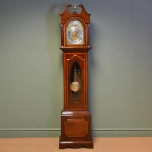High Quality Inlaid Mahogany Antique Victorian Grandfather Clock