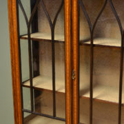 Superb Quality Victorian Inlaid Mahogany Antique Display Cabinet
