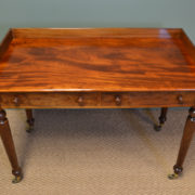 Fine Quality Victorian Figured Mahogany Antique Side / Writing Table