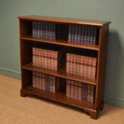 Edwardian Walnut Antique Open Bookcase