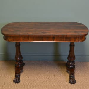 Spectacular William IV Figured Rosewood Antique Writing Table
