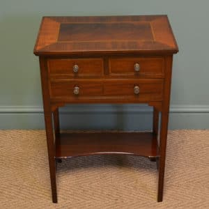 Elegant Edwardian Inlaid Mahogany Antique Side Table